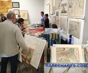 Rarecharts was one of 40 international dealers at the Miami International Map Fair held February 5,6 and 7, 2016.