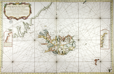 his scarce and highly decorative chart is annotated with information about re-supply points that could have been useful to whalers and other mariners.