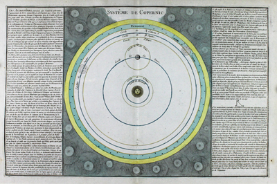 A fine representation of Copernicus' astronomical theory of our solar system.